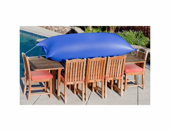 "Duck Covers Elite 127""L Rectangle Patio Table and Chairs Cover with Inflatable Airbag"