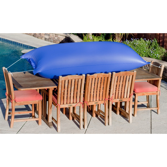 "Duck Covers Elite 140""Patio Table & Chairs Cover–Airbag"