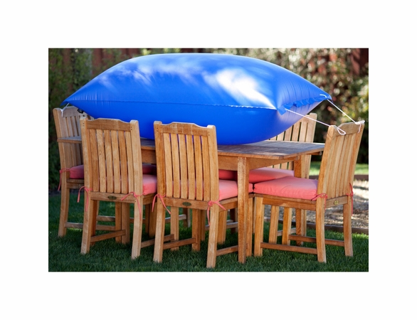 """Duck Covers Elite 76""""L Square Patio Table and Chairs Cover with Inflatable Airbag"""