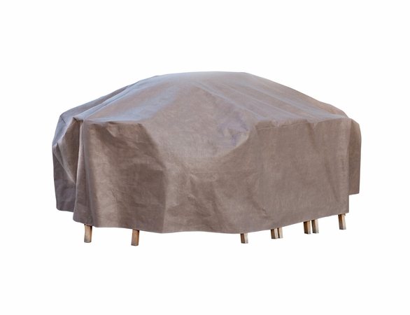 """Duck Covers Elite 96"""" L Rectangle Patio Table and Chairs Cover including Inflatable Airbag"""