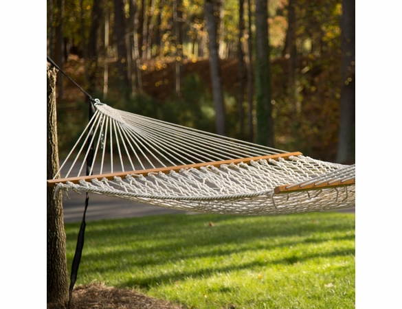 Economy Extra Long Natural Cotton Rope Hammock