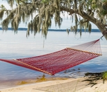 Economy Single Red Polyester Rope Hammock