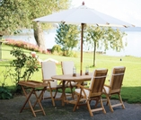 """Family Teak 60"""" - 78"""" Oval Expansion Table & 4 Estate Chairs"""