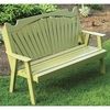 Fan Back Garden Bench 4', 5' or 6'