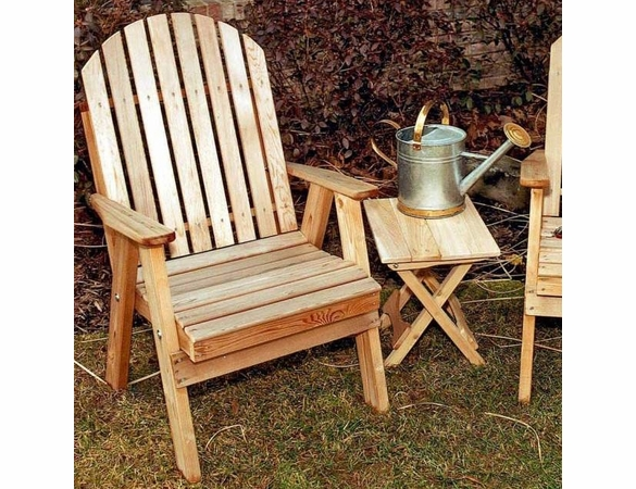 Fanback Patio Chair - Cedar