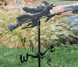 Flying Witch Garden Weathervane