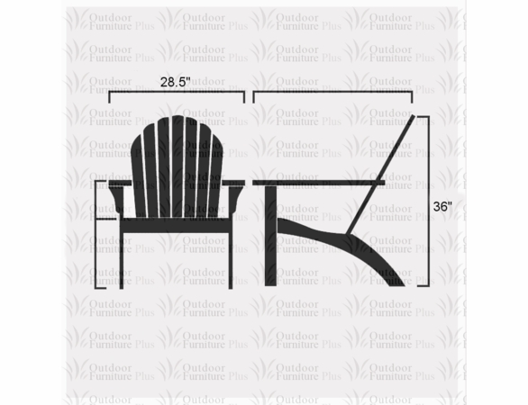 Folding White Cedar Adirondack Chair - Not Currently Available