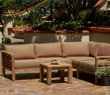 Forever Patio Anaheim Reclaimed Teak Sectional Set - 4 Piece