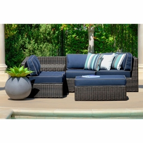 Forever Patio Horizon Sectional Set - 6 Piece