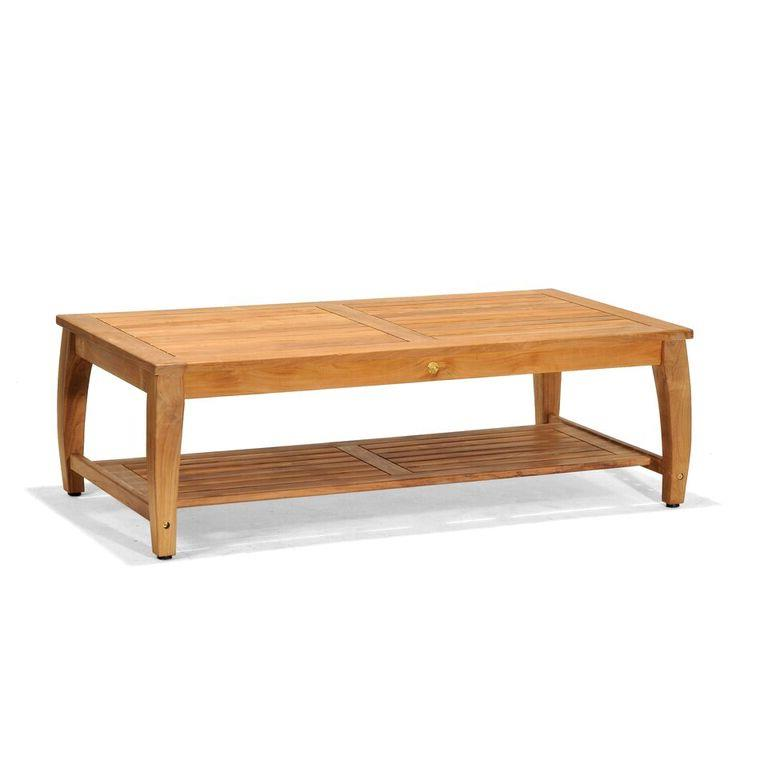 Plantation Rattan Coffee Table: Forever Patio Miramar Plantation Teak Coffee Table