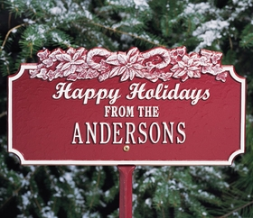 Happy Holidays Lawn Plaque w/Candy Canes