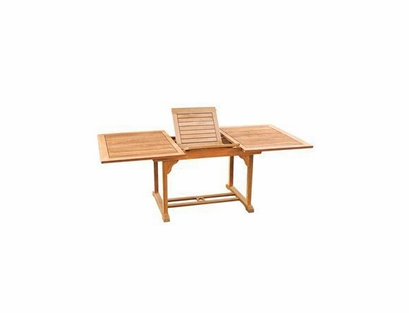 Extension Rectangular Or Table 90 70 Double Teak Hi vmNP8wynO0
