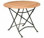 "Hi Teak 31.5"" Balcony Bistro Round Table"