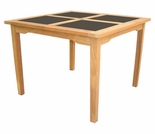 "Hi Teak 30"" Black Pearl Square Table"