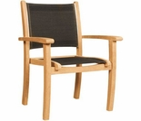 Hi Teak Black Pearl Stacking Arm Chair - Set of 4