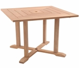 "Hi Teak 35""  HL Square Table"
