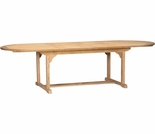 "Hi Teak 67"" or 94"" Oval Double Extendable Table"