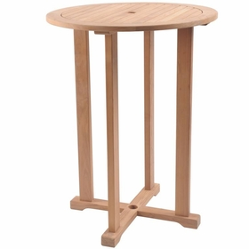 "Hi Teak 32"" Palm R Bar Table"