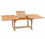 "Hi Teak 70"" or 90"" Rectangular Double Extension Table"