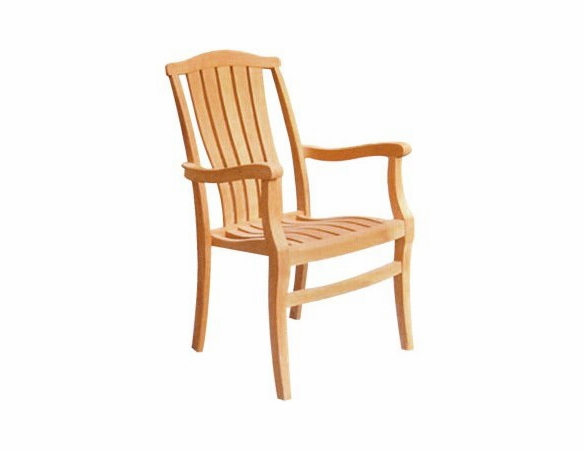 Hi Teak set of 4 Pacifica Stacking Arm Chairs