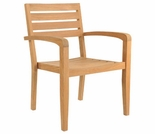 Hi Teak Set of 4 Venice Afternoon Tea Stacking Chair