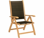 Hi Teak Sling and Teak 5 Position Chair