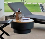 HotSpot Solid Base Revolver Fire Pit with Wooden Top