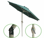 Hunter Green 9' Tilting Market Umbrella