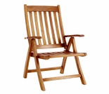Java Teak 5 Position Folding Arm Chair