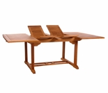 "Java Teak 50"" - 62.5"" - 75"" Butterfly Double Extension Table"