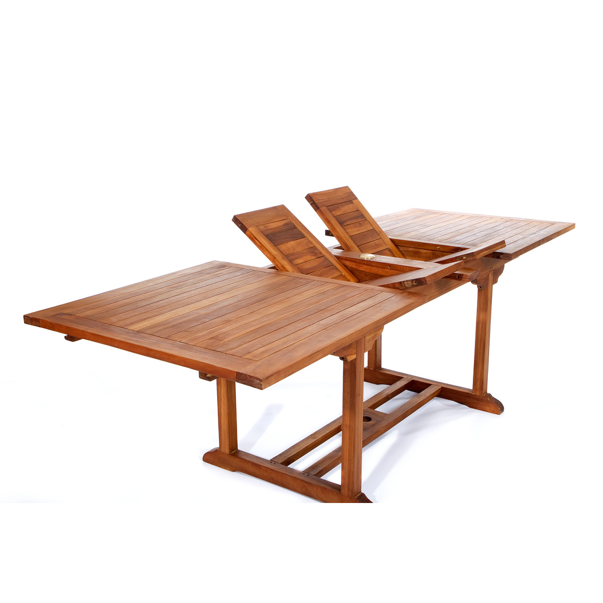 Cool Java Teak 9 Piece Rectangular Extension Table Folding Chair Dining Set Machost Co Dining Chair Design Ideas Machostcouk