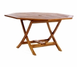 Java Teak Octagonal Folding Table