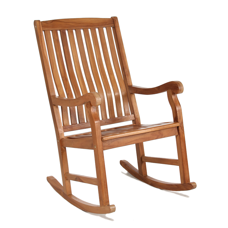 Java Teak Wood Porch Rocking Chair