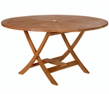 Java Teak Round Folding Table