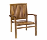 Java Teak Stacking Chair