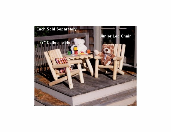 Junior Cedar Log Chair