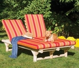 Log Style Double Chaise Lounge