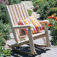 Log Style High Back Rocker - Not Currently Available