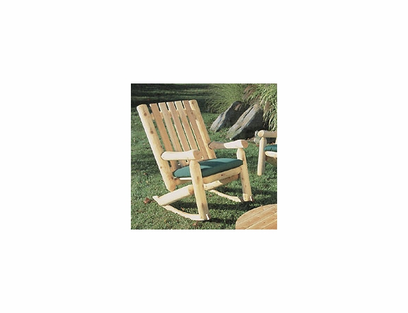 Log Style High Back Rocker