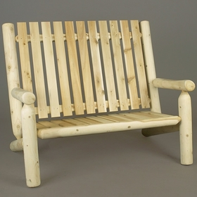 Log Style High Back Settee