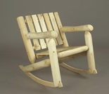 Log Style Low Back Rocking Chair