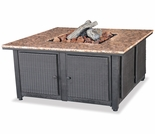 LP Gas Firebowl w/ Granite Marble
