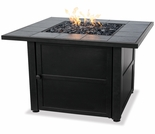 LP Gas Firebowl w/ Slate Mantel and Steel Bowl