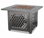LP Gas Firebowl w/ Slate Tile Mantel