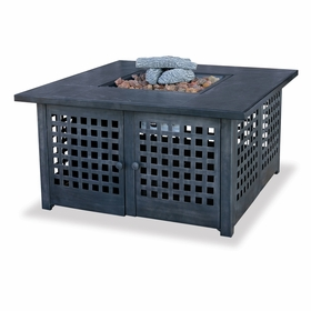 LP Gas Firebowl w/ Tile Mantel