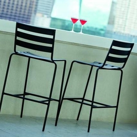 Woodard Metro Wrought Iron Bar Stool Set