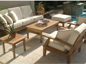 Miami Teak Deep Seating Group - 6pc Set
