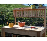 Arboria Modern Cedar Potting Bench & Shelf