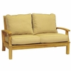 Three Birds Monterey Teak Deep Seating 2-Seater Loveseat