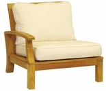 Three Birds Monterey Teak Sectional Left Side Facing Armchair